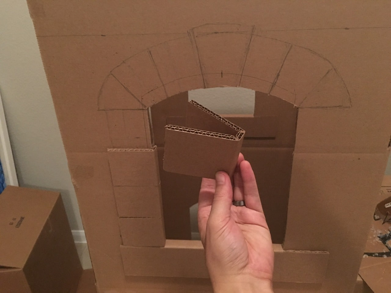 A Kid S Dream Cardboard Castle Made Out Of Boxes Brandon