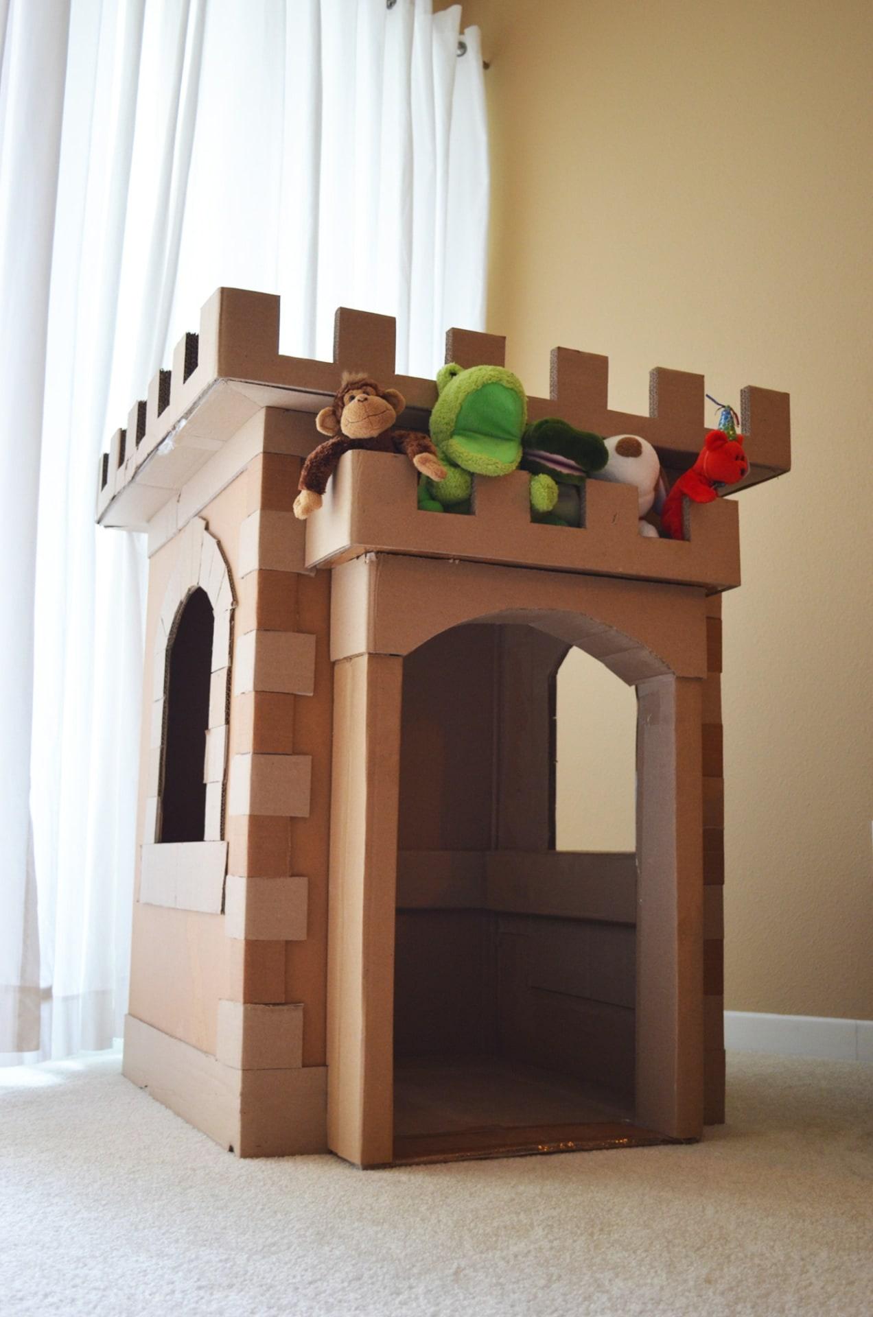 Cardboard Castle Construction Fun Brandon Tran